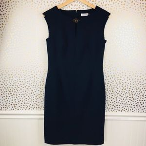 Calvin Klein Navy Blue sheath dress Sz 8